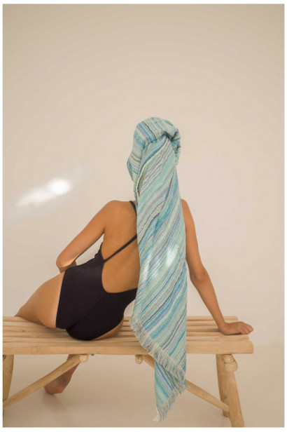 Beach towel SICILIA green