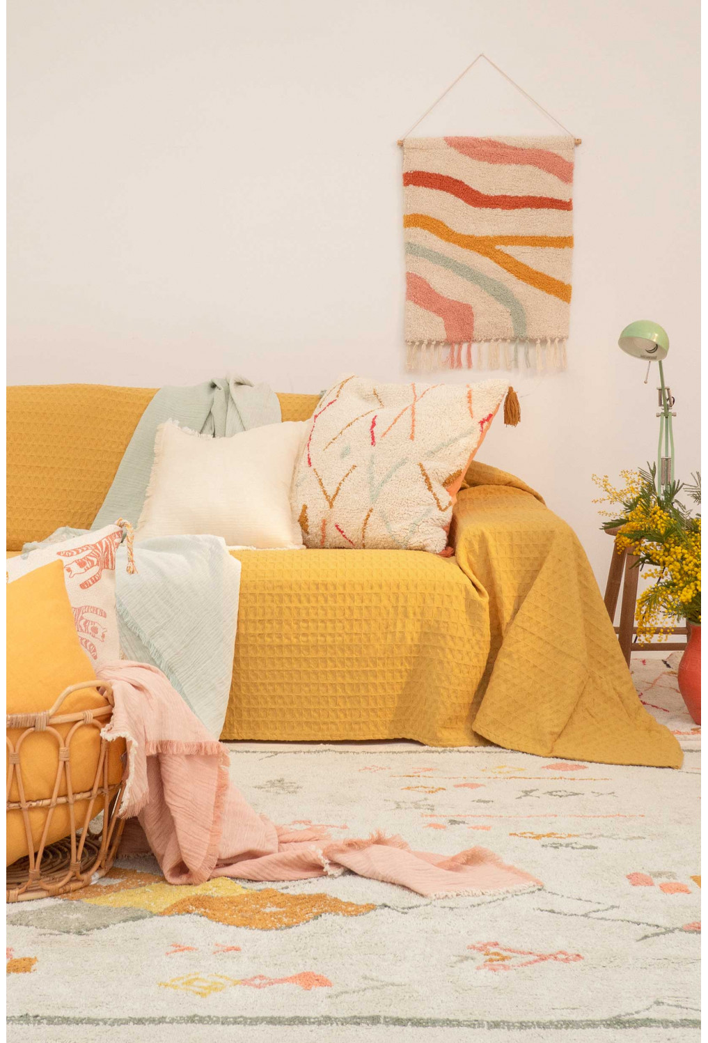 Sofa cover PANAL yellow