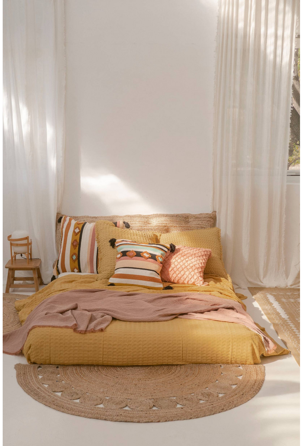 Bedspread PANAL yellow