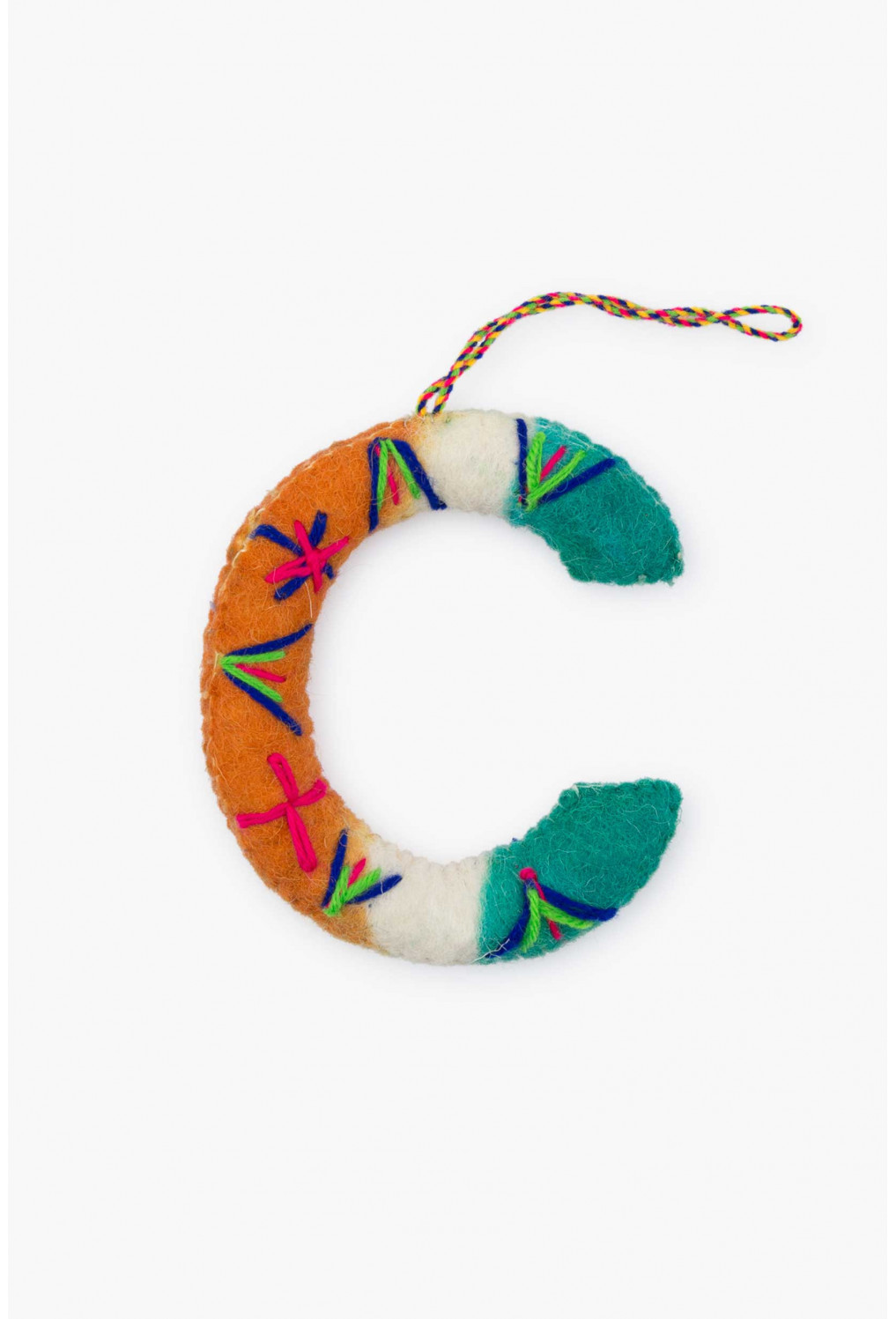 Assorted felt letters multicolored