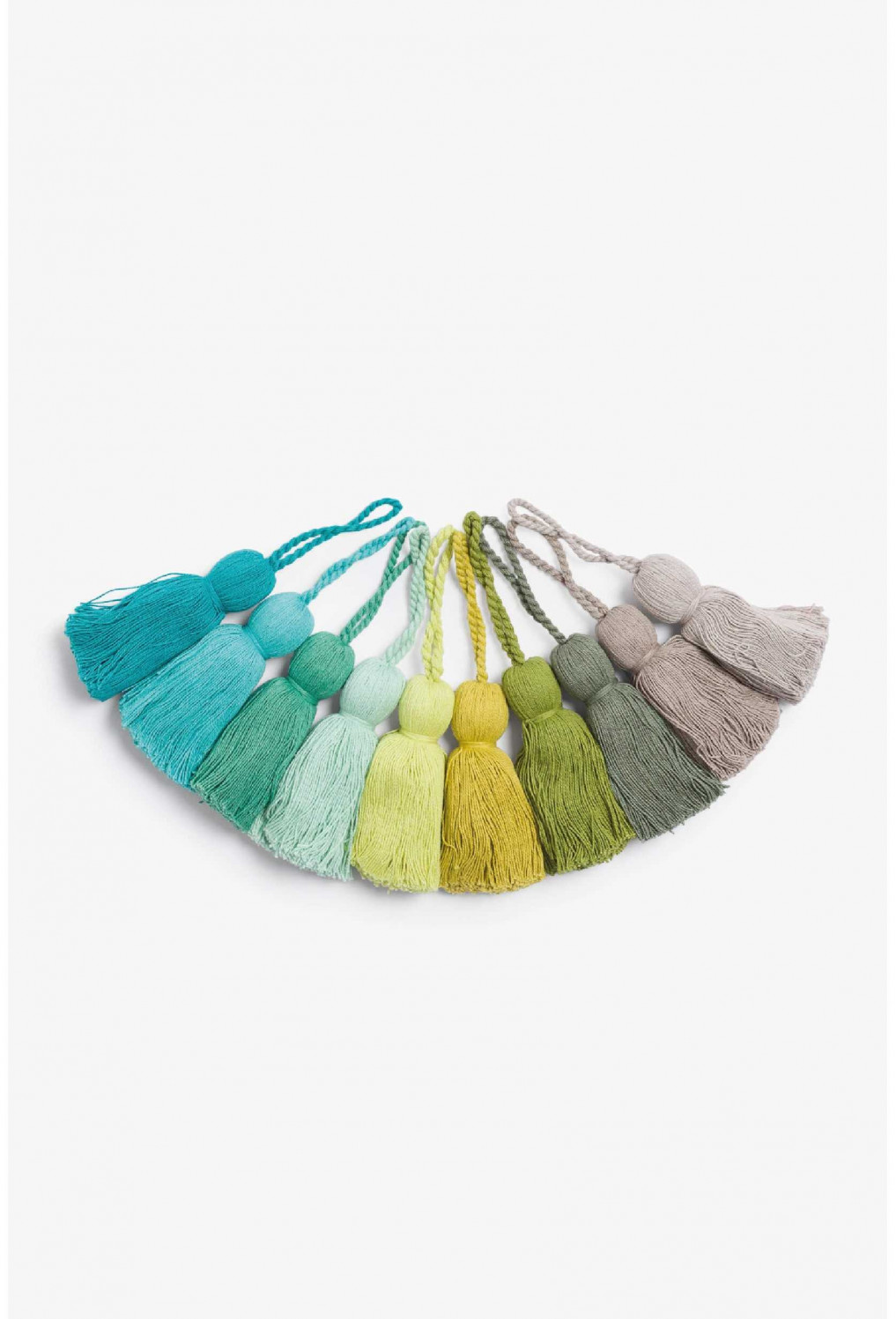 Pack Tassels HORN green (40 u.)
