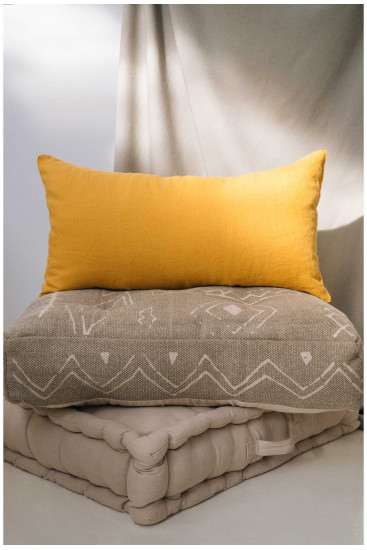Floor cushion GAVEMA mustard