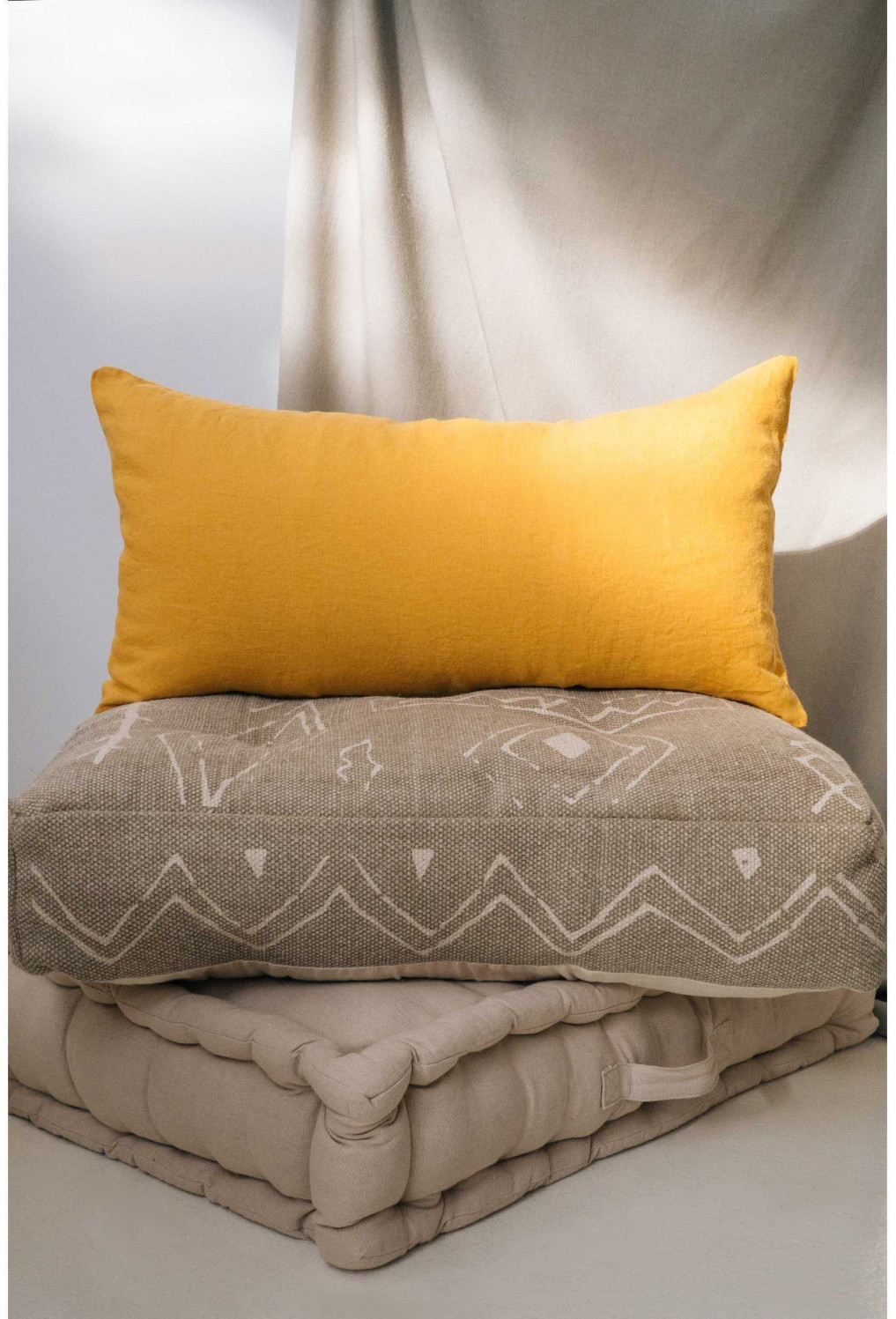 Cushion cover LINO yellow