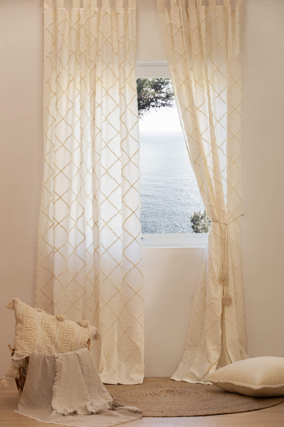 Curtain DUERO white